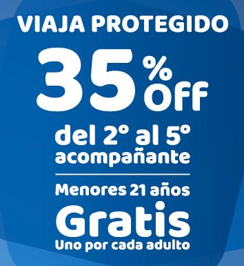 PROMO! » 35% desc en acompañantes y menores gratis en planes seleccionados